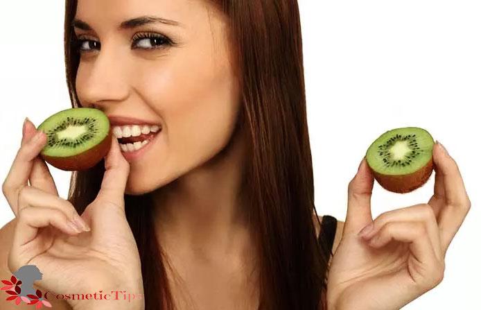 میوه کیوی برای درخشان شدن پوست