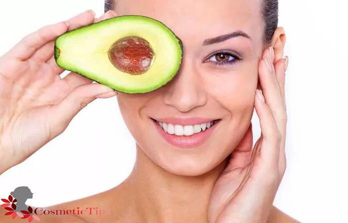میوه آووکادو برای درخشان شدن پوست