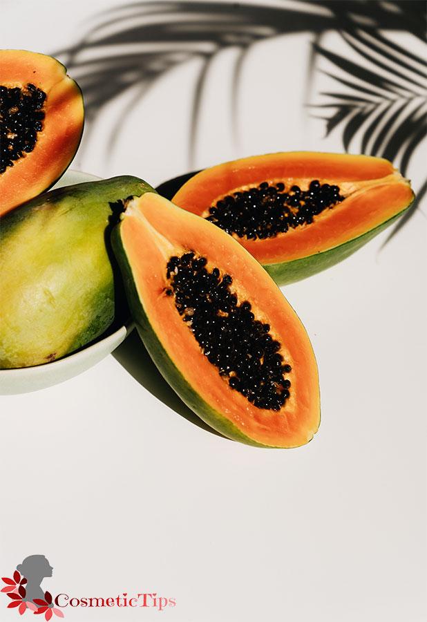 میوه پاپایا برای درخشان شدن پوست